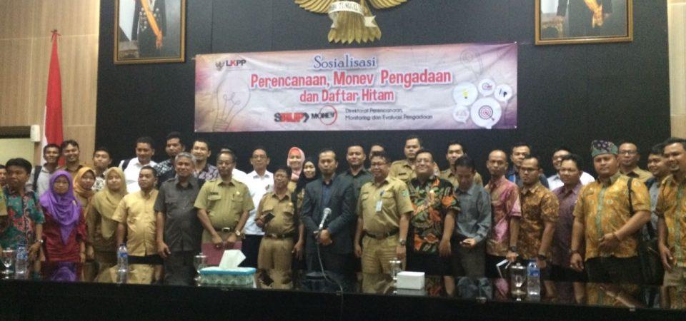 Sosialiasi Perencanaan, Monitoring-evaluasi dan Daftar Hitam Di Palembang, Sumatera Selatan
