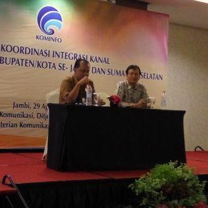 Rakor Integrasi Kanal Pemerintah Daerah se-Jambi dan Sumatera Selatan